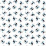 Teste padrão sem emenda para o projeto de matéria têxtil, papel de parede do vetor da mosca, papel de envolvimento Fotos de Stock Royalty Free