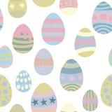 Teste padrão sem emenda para ovos da páscoa ilustração do vetor