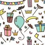 Teste padrão sem emenda para partidos e feriados das crianças ilustração stock