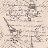 Teste padrão sem emenda Paris Ilustração do Vetor