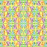 Teste padrão sem emenda pastel da cor abstrata no estilo primitivo Imagem de Stock Royalty Free