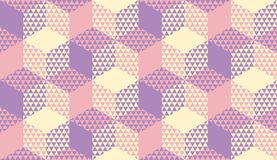 Teste padrão sem emenda pastel violeta e do marfim ilustração royalty free