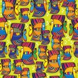 Teste padrão sem emenda peixes coloridos Foto de Stock