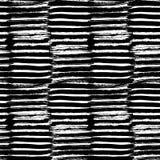 Teste padrão sem emenda pintado à mão do vetor com cursos da escova da tinta fotografia de stock