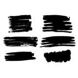 Teste padrão sem emenda pintado à mão do vetor com cursos da escova da tinta Imagem de Stock Royalty Free