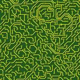 Teste padrão sem emenda. Placa de circuito do computador. ilustração do vetor