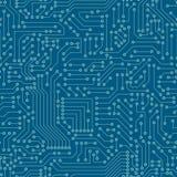 Teste padrão sem emenda Placa de circuito do computador Imagens de Stock