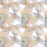Teste padrão sem emenda poligonal Fotografia de Stock Royalty Free
