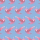 Teste padrão sem emenda poligonal com pássaros Fotografia de Stock