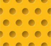 Teste padrão sem emenda pontilhado do vetor plástico amarelo abs Fotos de Stock Royalty Free