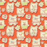 Porcos dos desenhos animados Foto de Stock Royalty Free