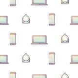 Teste padrão sem emenda portátil do inclinação dos dispositivos eletrónicos Imagens de Stock Royalty Free