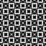Teste padrão sem emenda preto e branco imagem de stock