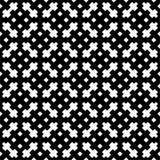Teste padrão sem emenda preto e branco ilustração royalty free