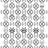 Teste padrão sem emenda preto e branco Imagem de Stock Royalty Free
