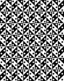Teste padrão sem emenda preto e branco, Imagens de Stock