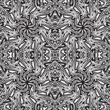 Teste padrão sem emenda Teste padrão preto e branco abstrato Fotos de Stock