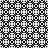 Teste padrão sem emenda preto e branco bonito do vetor Foto de Stock