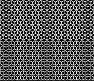 Teste padrão sem emenda preto e branco bonito do vetor Fotos de Stock