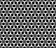 Teste padrão sem emenda preto e branco bonito do vetor Fotos de Stock Royalty Free