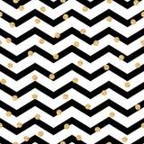Teste padrão sem emenda preto e branco do ziguezague de Chevron Foto de Stock Royalty Free