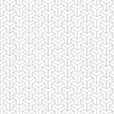 Teste padrão sem emenda preto e branco geométrico Foto de Stock