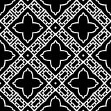 Teste padrão sem emenda preto no fundo branco Imagem de Stock