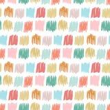Teste padrão sem emenda primitivo com quadrados a mão livre Textura simples do outono para a tela das crianças, matéria têxtil, c Imagens de Stock Royalty Free