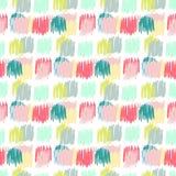 Teste padrão sem emenda primitivo Textura simples do outono para a tela das crianças, matéria têxtil, cartão de aniversário, envo Imagens de Stock