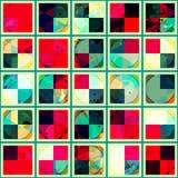 Teste padrão sem emenda quadrado do vintage Fotografia de Stock