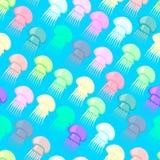Teste padrão sem emenda que consiste em medusa coloridas Fotografia de Stock Royalty Free