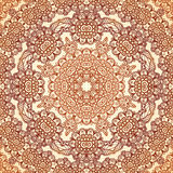 Teste padrão sem emenda redondo do vintage no mehndi indiano Imagem de Stock