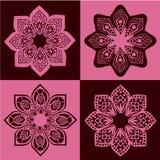 Teste padrão sem emenda retro da flor Fotografia de Stock