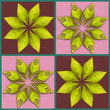 Teste padrão sem emenda retro da flor Foto de Stock