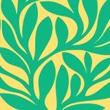 Teste padrão sem emenda retro do Grunge das folhas coloridas Imagens de Stock Royalty Free