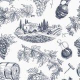Teste padrão sem emenda retro do vinho do vetor ilustração stock