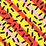 Teste padrão sem emenda retro em Memphis Style Design Imagens de Stock Royalty Free