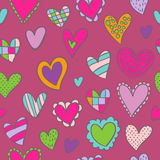 Teste padrão sem emenda romântico Imagens de Stock Royalty Free