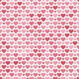 Teste padrão sem emenda romântico com corações Ilustração bonita do vetor Fundo A textura infinita pode ser usada imprimindo em f ilustração royalty free