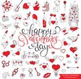 Teste padrão sem emenda romântico Dia do `s do Valentim ilustração royalty free