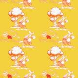 Teste padrão sem emenda running da avestruz e do canguru do encaixotamento ilustração do vetor