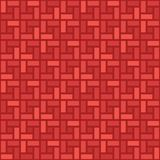 Teste padrão sem emenda sentido horário da telha monocromática da espiral do tijolo vermelho ilustração royalty free