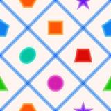 Teste padrão sem emenda simples com figuras geométricas para a sala de crianças Imagens de Stock
