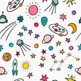 Teste padrão sem emenda simples da astronomia do cosmos ilustração royalty free