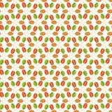 Teste padrão sem emenda simples das folhas do verde, as alaranjadas e do vermelho Foto de Stock Royalty Free