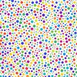 Teste padrão sem emenda simples de círculos coloridos do inclinação no branco ilustração do vetor
