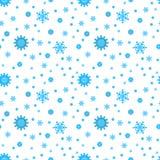Teste padrão sem emenda simples do floco de neve Imagens de Stock Royalty Free