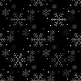 Teste padrão sem emenda simples do floco de neve Papel de parede abstrato, envolvendo a decoração Símbolo do inverno, feriado do  ilustração royalty free