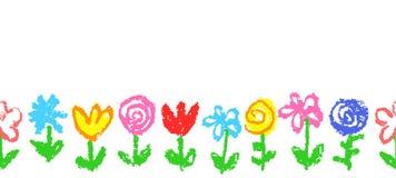 Teste padrão sem emenda simples floral, beira, encabeçamento ou quadro ilustração stock