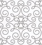 Teste padrão sem emenda swirly simétrico do vetor Fotos de Stock